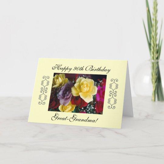 Great Grandmas 90th Birthday Card