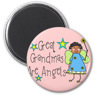 Great Grandmas Are Angels Gifts (Afro-American) 2 Inch Round Magnet