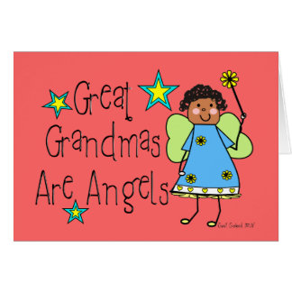 Great Grandmas Are Angels Gifts (Afro-American) Card