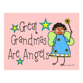 Great Grandmas Are Angels Gifts (Afro-American) Post Card