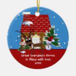 Great Grandma's Love House Christmas Ornament