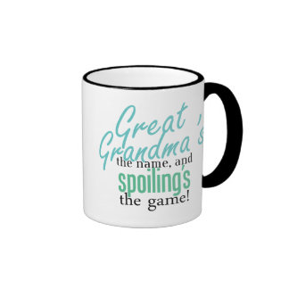 Great Grandma's the Name, and Spoiling's Ringer Coffee Mug