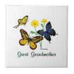 Great Grandmother Butterflies Ceramic Tiles