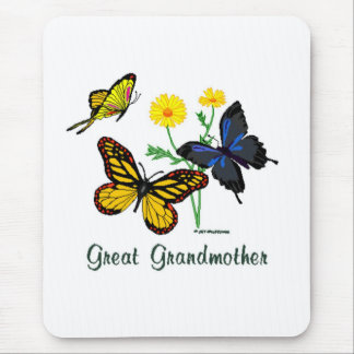 Great Grandmother Butterflies Mouse Pad