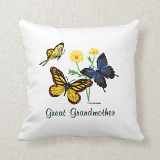 Great Grandmother Butterflies Pillow
