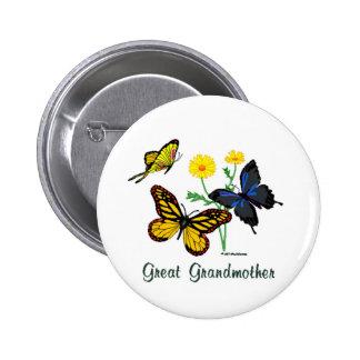 Great Grandmother Butterflies Pinback Button