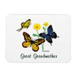 Great Grandmother Butterflies Rectangle Magnet