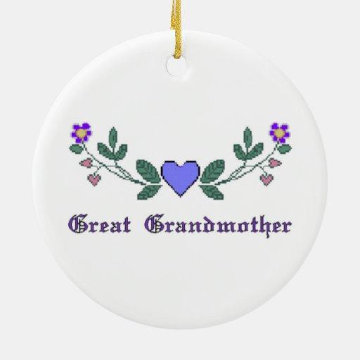 Great Grandmother CS Print Ceramic Ornament