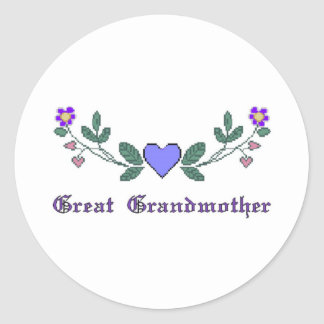 Great Grandmother CS Print Classic Round Sticker