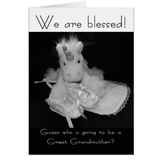 Great Grandmother new baby we are blessed Card