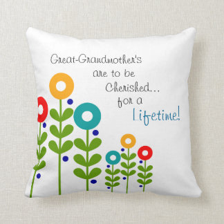 Great-Grandmother Pillow Spring Flowers