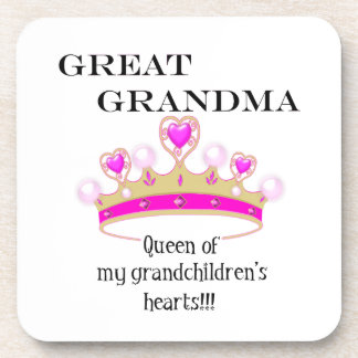 Great Grandmother Queen of Hearts Coaster
