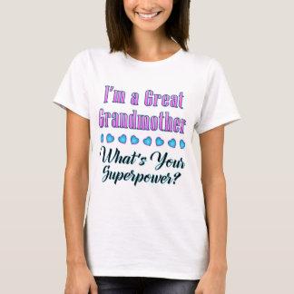 Great Grandmother Superpower T-shirt