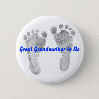 Great Grandmother to Be Button