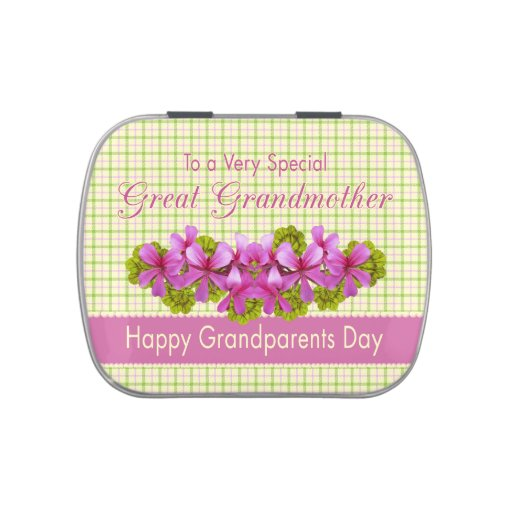 Great Grandmother's Plaid Garden Jelly Belly Candy Tins