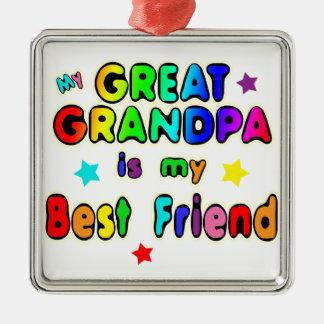 Great Grandpa Best Friend Metal Ornament