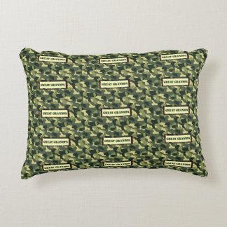 Great Grandpa - Camo Decorative Pillow