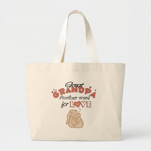 Great Grandpa Children's Gifts Jumbo Tote Bag