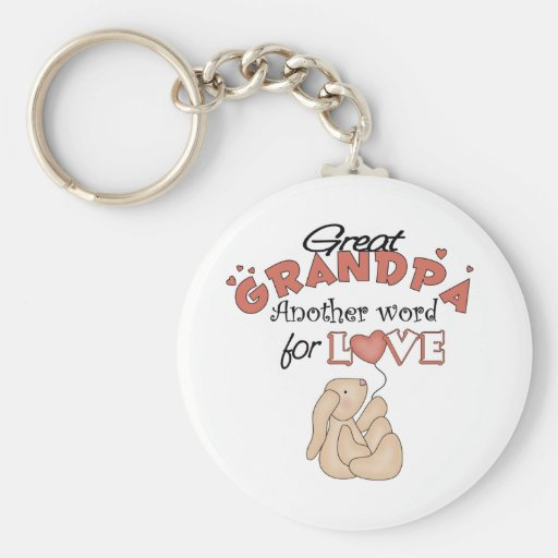Great Grandpa Children's Gifts Keychains
