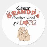 Great Grandpa Children's Gifts Classic Round Sticker