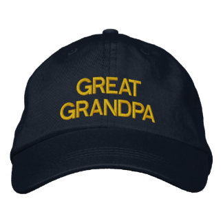 Great Grandpa embroidered cap