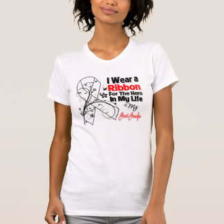 Great-Grandpa Hero in My Life Lung Cancer Tshirt