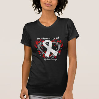 Great-Grandpa - In Memory Lung Cancer Heart Shirts