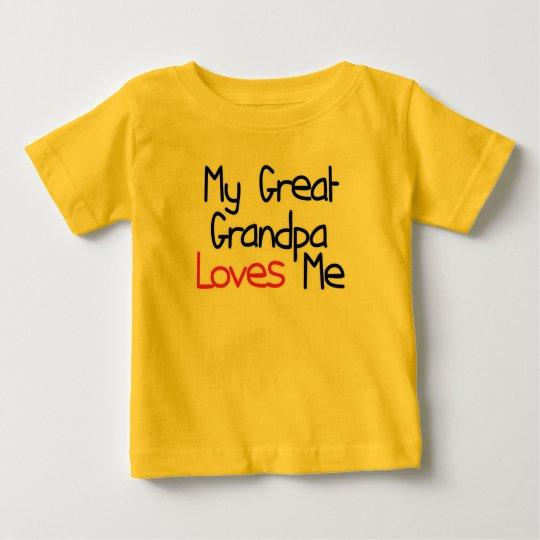 Great Grandpa Loves Me Baby T-Shirt