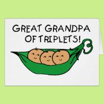 Great Grandpa of Triplets Pod Card
