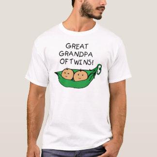 Great Grandpa of Twins Pod T-Shirt