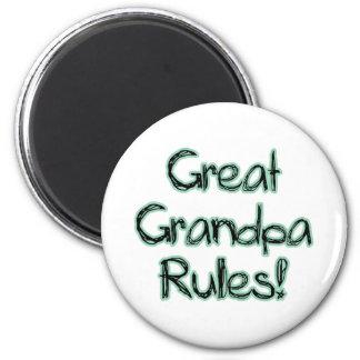 Great Grandpa Rules Fridge Magnets