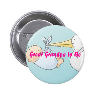 Great Grandpa to Be 2 Inch Round Button