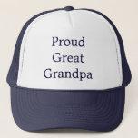 "Great Grandpa Trucker Hat<br><div class=""desc"">Perfect cap for that proud great grandpa!</div>"