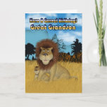 "Great Grandson Birthday Card - Lion And Cub<br><div class=""desc"">Great Grandson Birthday Card - Lion And Cub</div>"