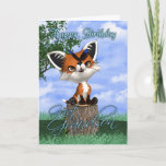 "Great Grandson Birthday Card With Cute Fox And But<br><div class=""desc"">Great Grandson Birthday Card With Cute Fox And Butterfly</div>"