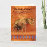 "Great Grandson Birthday Card With Elephant Butterf<br><div class=""desc"">Great Grandson Birthday Card With Elephant Butterfly And Zebra</div>"