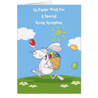 Great Grandson Blessings Easter Card