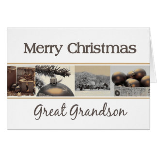 great grandson Merry Christmas card