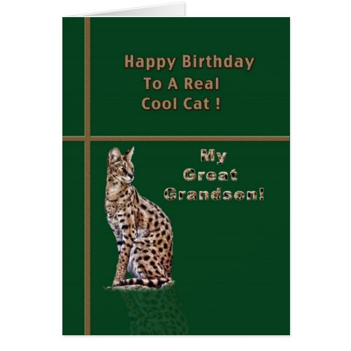 Great Grandson's Birthday Card with Ocelot