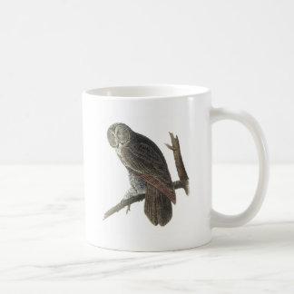 Great Gray Owl by Audubon Coffee Mug