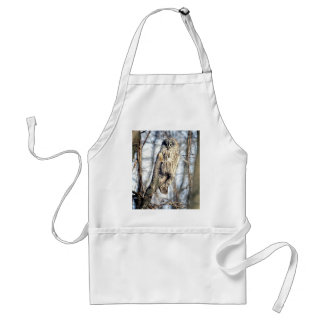 Great Gray Owl - Creamy Brown Watcher Aprons
