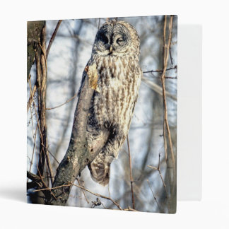 Great Gray Owl - Creamy Brown Watcher Binder