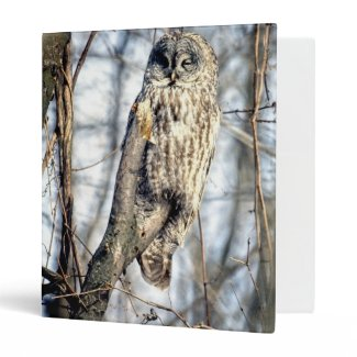 Great Gray Owl - Creamy Brown Watcher Binders