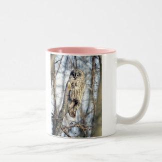 Great Gray Owl - Creamy Brown Watcher Coffee Mugs