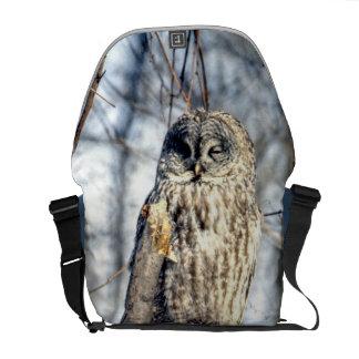 Great Gray Owl - Creamy Brown Watcher Commuter Bags