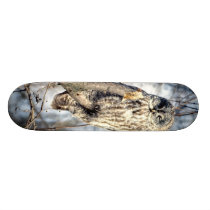 Great Gray Owl - Creamy Brown Watcher Skateboard