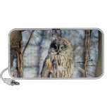 Great Gray Owl - Creamy Brown Watcher Portable Speakers