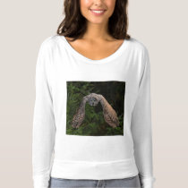Great Gray Owl ~ Forward Flight T-shirt