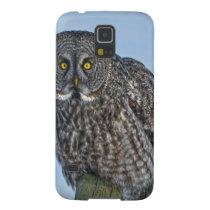 Great Gray Owl On a Fence Wildlife Photo Portrait Galaxy S5 Case