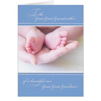 Great Great Grandparents New Great Great Grandson Card